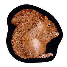Squirrel stained glass fragment, kilnfired, squirrel suncatcher, squirrel glass
