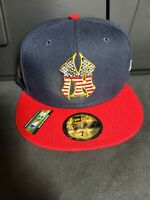 Official MLB New York Yankees 4th of July Era 59FIFTY Fitted Hat Cap 7 1/2