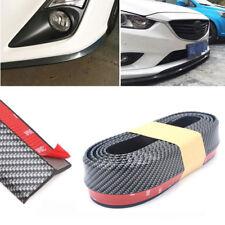 2.5M Universal Carbon Fiber Black Front Bumper Lip Splitter Spoiler Body Kit