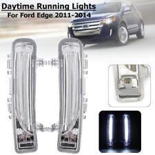 White LED DRL Daytime Running Light Fog Lamp For Ford Edge 2011 2012 2013 2014