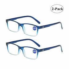 2x Gradient Reading Glasses Mens Womens Unisex Reader 1.0 1.5 2.0 2.5 3.0 3.5 4.