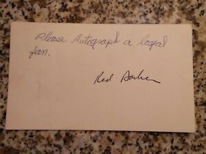 Red Barber Yankee Announcer Signed Autograph GPC Postcard
