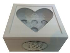 White Shabby Chic Country Kitchen Style Egg Box With Heart Shaped Window