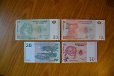 LOTTO 4 BANCONOTE BANQUE CENTRALE DU CONGO 10 20 CENTIMES 10 20 FRANCS SUBALPINA