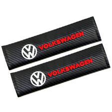 2pcs Car Carbon Fiber Safety Seat Belt Cover Shoulder Pad Cushion For Volkswagen
