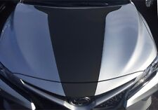 THE ALL NEW 2018 Toyota Camry Front Hood Decal Inlay Wrap Matte Black Vinyl