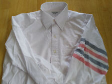 NWOT Thom Browne White Poplin Woven Sleeve Stripes Button Down TB3 MSRP $450
