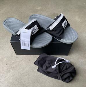 Nike AO1037-001 Unisex Benassi JDI Fanny Pack Sandal Slides Black Men's 12