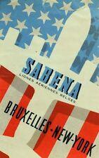 1940's-50's Sabena Bruxelles to New York Luggage Label Vintage Original F100