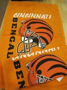 NWT Lot of 2 Cincinnati Bengals Fan Towel  NFL Orange 16x25 2 Towels