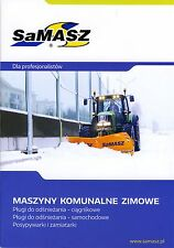 SaMASZ with John Deere 02 / 2015 catalogue brochure snowplow Schneepflug