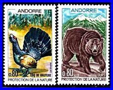 ANDORRA FRANCE 1971 ANIMALS & BIRDS SC#203-04 MNH CV$8.25 BEARS