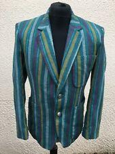 "Vintage Wool Striped Boating Blazer Jacket 38"" Chest Mod"