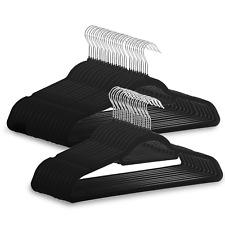 Velvet Coat Hangers Pack of 50 NonSlip Design Flocked Slimline Hangers M&W