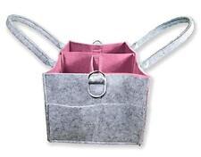 Baby Diaper Caddy Organizer: Large Nursery Storage Bin| Portable Car & Travel