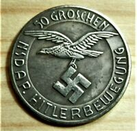 WW2 GERMAN COMMEMORATIVE COLLECTORS COIN 50 GROSCHEN S/S
