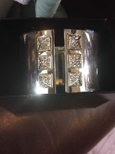 VICTORIA'S SECRET CUFF BRACELET HINGED GOLDTONE BLING NEW IN BOX $78