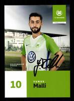 Yunus Malli Autogrammkarte VFL Wolfsburg 2017-18 Original Signiert+A 177293