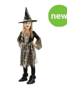 Girls Witch Costume With Hat  Halloween Fancy Dress 11-12 yrs (146cm)