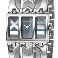 Unique Mila Schon Dark Blue MOP Stainless Steel Ladies Watch MS.1034L/01M
