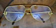 Cartier Vintage SANTOS AVIATOR eyeglasses 62 14 gold frame 1980' genuine ..