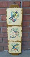 Vintage Edwards Birds Wood Wall Hanging Decoration