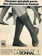 PUBLICITE  1966    LA BONNAL  chaussettes  coloris mode