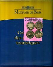 ALBUM POUR MEDAILLES MONNAIE DE PARIS ET AB CLASSEUR +MEDAILLE LEUCHTURM OFFERTE