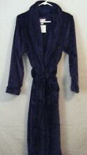 NWT Carole Hochman Women's NAVY Plush Soft Polyester Plush Wrap Robe Size Small