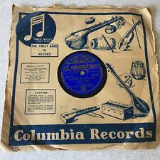78 RPM Hemanta Mukherjee COLUMBIA Victrola Record IMPORT INDIA BENGALI TAGORE