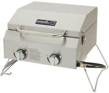 Nexgrill 2-Burner Portable Propane Gas Table Top Grill in Stainless Steel New