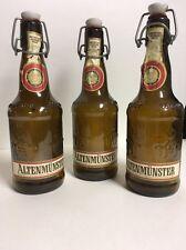 Vintage Collectors Altenmunster Amber Beer Bottles Lot Of 3