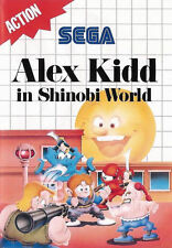 Alex KIDD nel mondo Shinobi Sega Master System incorniciato stampa (MAN Grotta Foto Arte