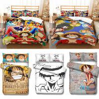 ONE PIECE Design Bedding Set 3Pcs Duvet Cover & Pillowcase 3D Anime Quilt Cover