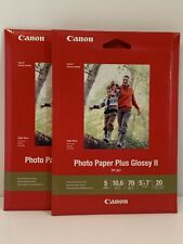 Lot 2 Pack~Inkjet~Canon Photo Paper Plus Glossy II~5 X 7~40 Sheets~PP-301~Sealed