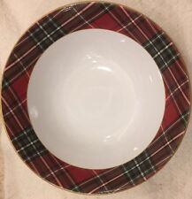 222 Fifth Wexford Plaid Large Serving Bowl Christmas Holiday