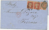 2427 1863 QV 4d bright red small white corner letters ('QE') + 2 x 1d red stars