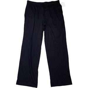 Croft & Barrow Mens Pajama Lounge Pants Black Size Large 36X32