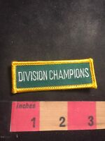 White On Green w/ Yellow Border DIVISION CHAMPIONS Tab Patch C91M