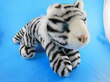 "Siegfried & Roy White Tiger Soft Plush With Blue Eyes 11"" plus tail Souvenir"