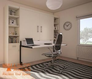 Alpha Wall Bed with Desk - Murphy Bed - Fold down bed