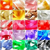 ** Double Sided Satin Ribbon - Many Colours & Sizes