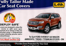 FORD EVEREST CAR SEAT COVERS FULL SET 3 ROWS BLACK ESTEEM 07/2015 TO CURRENT