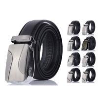 Men' Automatic Buckle Belt PU Leather Belts Waist Ratchet Business Waistband Hot