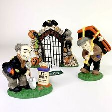 Creepy Hollow Dept 56 Lemax Villages Halloween Cemetery Gate 2 Gravediggers New