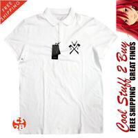 A/X Armani Exchange Men's NWT White Deer Logo Polo Shirt MSRP SIZE 2XL