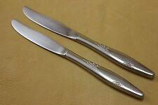 Oneida Stainless Silverware - ROSE DUET - Dinner Knives (2)