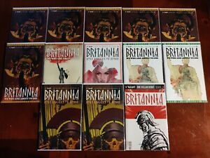 Valiant Comics Britannia #1-4 13 Comic Book Lot