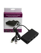 Adaptateur Filaire 4 Manettes GameCube pour  Wii U, Switch ou PC Windows 7/8/10