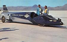 """BONNEVILLE SALT FLATS """"Wingfoot Express"""" Walt Arfons Tom Green Racing Postcard"""